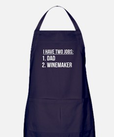Two Jobs Dad And Winemaker Apron (dark)