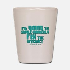 The Newsroom: Fix The Internet Shot Glass