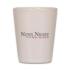The Newsroom: News Night Shot Glass