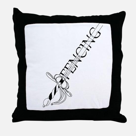 Fencing Rapier Throw Pillow