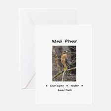 Hawk Power Animal Medicine Greeting Cards