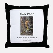 Hawk Power Animal Medicine Throw Pillow