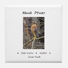 Hawk Power Animal Medicine Tile Coaster