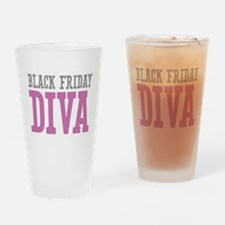 Black Friday DIVA Drinking Glass