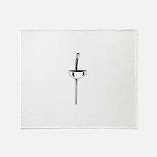 Epee Sword Throw Blanket