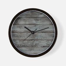 black white barn wood Wall Clock