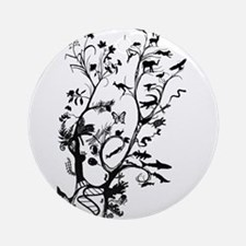 Animal Family Tree Round Ornament