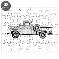 1957 Ford Pickup Truck F-100 Vintage Old Puzzle