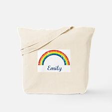 Emily vintage rainbow Tote Bag