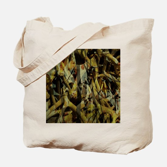 western country antler camouflage Tote Bag