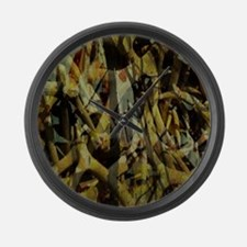western country antler camouflage Large Wall Clock