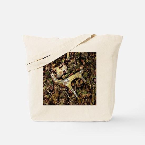 rustic deer antler camo  Tote Bag
