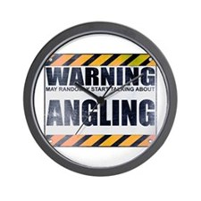 Warning: Angling Wall Clock