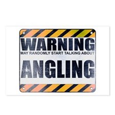 Warning: Angling Postcards (Package of 8)