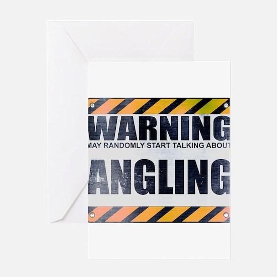 Warning: Angling Greeting Card