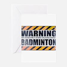 Warning: Badminton Greeting Cards (10 pack)