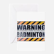 Warning: Badminton Greeting Card