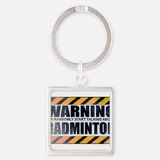 Warning: Badminton Square Keychain