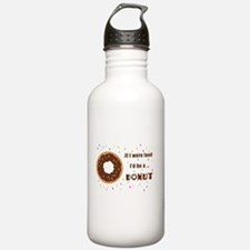 Funny Donut and running Water Bottle