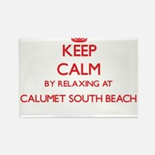 Keep calm by relaxing at Calumet South Bea Magnets