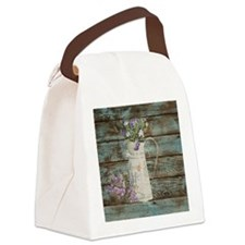 rustic lavender western country  Canvas Lunch Bag