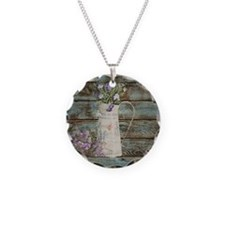 rustic lavender western coun Necklace
