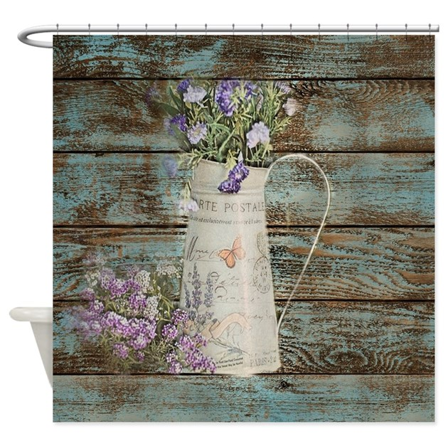 Rustic Lavender Western Country Shower Curtain By Listing