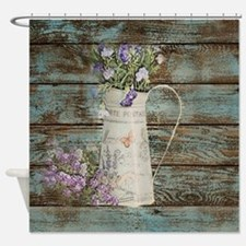 rustic lavender western country  Shower Curtain
