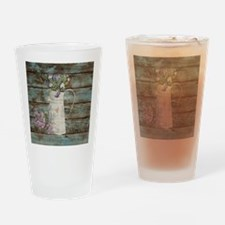 rustic lavender western country  Drinking Glass