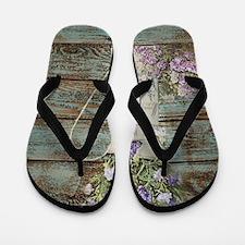 rustic lavender western country  Flip Flops