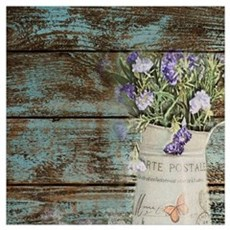 rustic lavender western country  Framed Print