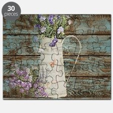 rustic lavender western country  Puzzle