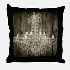 shabby chic rustic chandelier Throw Pillow
