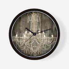 shabby chic rustic chandelier Wall Clock