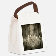shabby chic rustic chandelier Canvas Lunch Bag