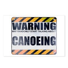 Warning: Canoeing Postcards (Package of 8)