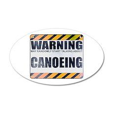 Warning: Canoeing 22x14 Oval Wall Peel