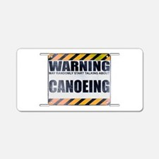 Warning: Canoeing Aluminum License Plate