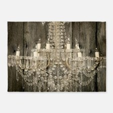 shabby chic rustic chandelier 5'x7'Area Rug