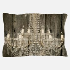 shabby chic rustic chandelier Pillow Case