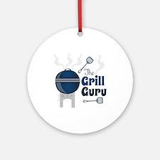 Grill Guru Round Ornament