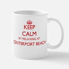 Keep calm by relaxing at Centerport Beach New Mugs