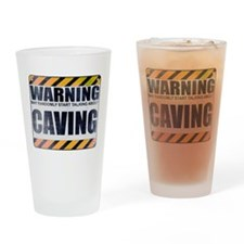 Warning: Caving Drinking Glass