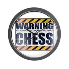 Warning: Chess Wall Clock