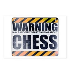 Warning: Chess Postcards (Package of 8)