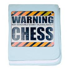 Warning: Chess Infant Blanket