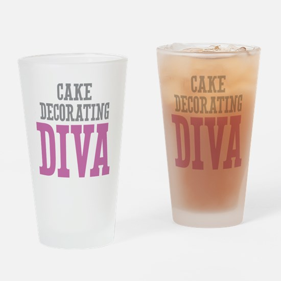 Cake Decorating DIVA Drinking Glass