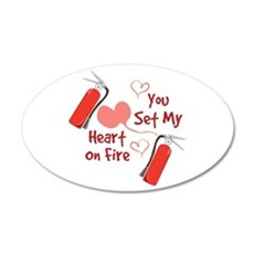 Heart On Fire Wall Decal