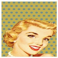 vintage pattern pin up girl Poster