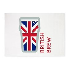 British Brew 5'x7'Area Rug
